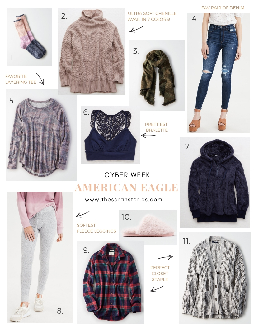 Cyber week American Eagle Outfitters Sarah's favorites