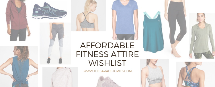 Affordable Fitness attire wishlist