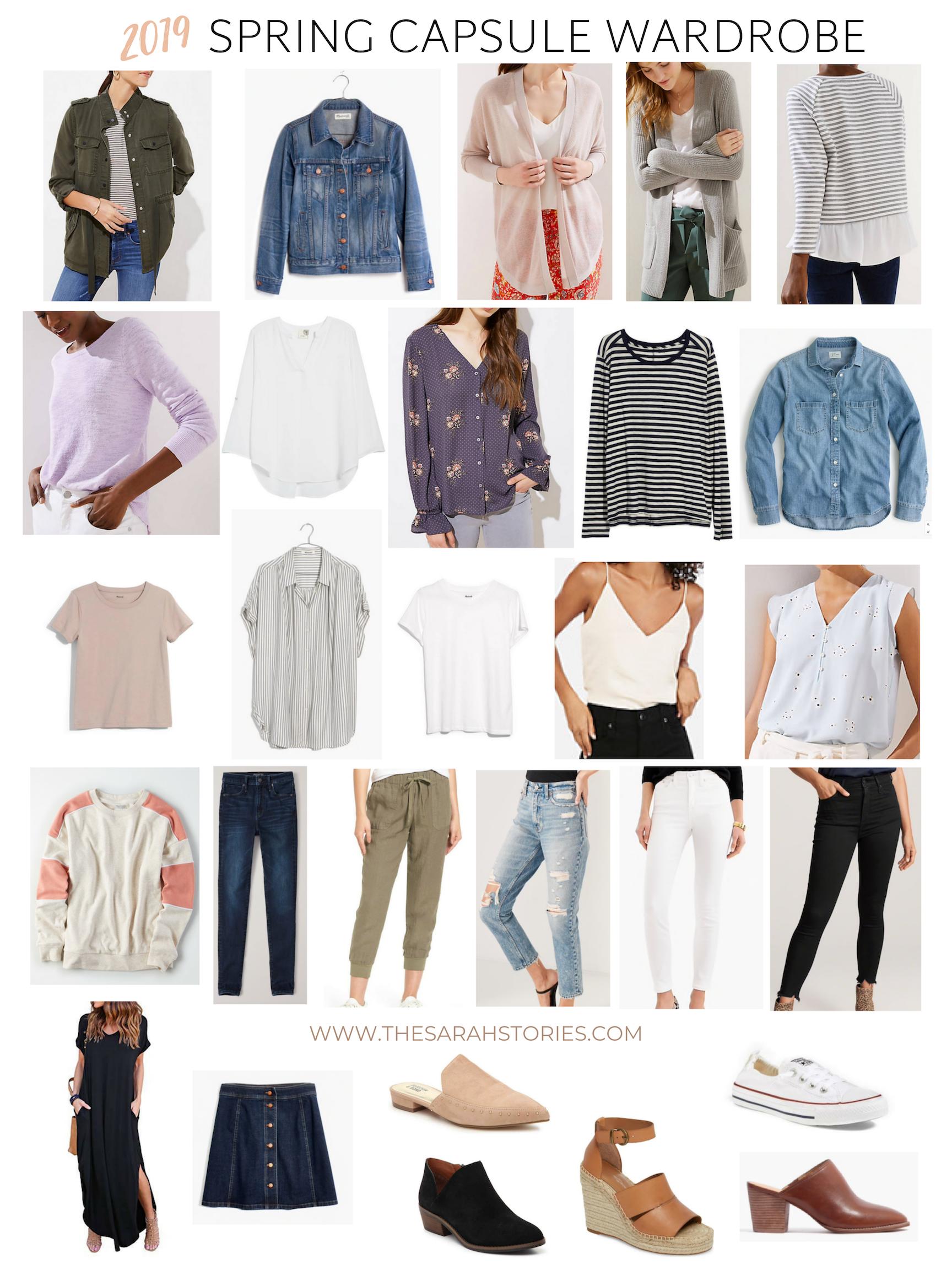 2019 Spring Capsule Wardrobe