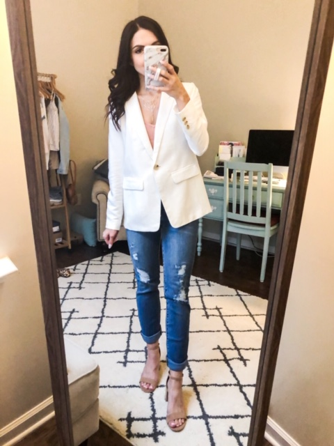 5 ways to style a white blazer