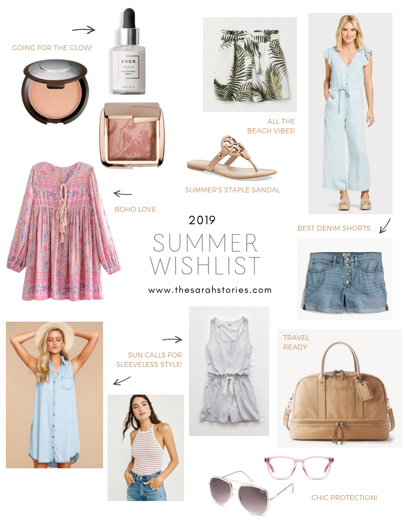 Summer 2019 wishlist