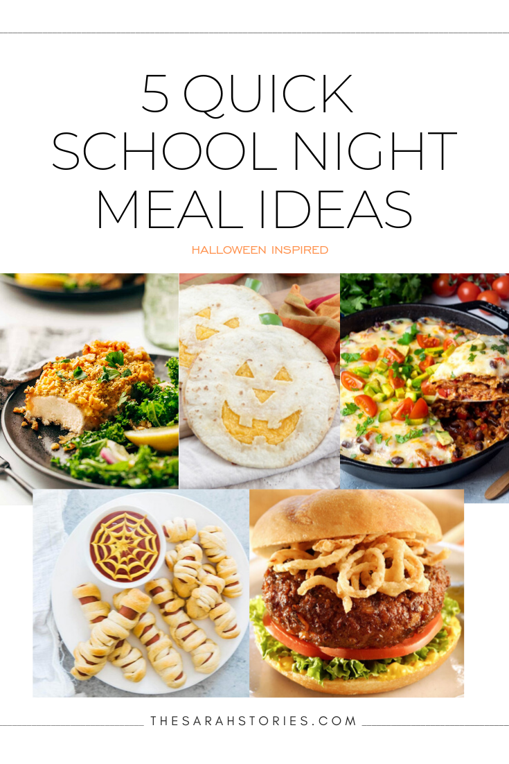 Friday Five | 5 quick school night meal ideas