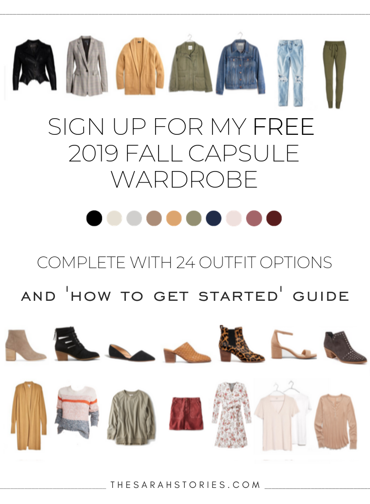 Receive my FREE Fall Capsule wardrobe + 'How to get started' guide