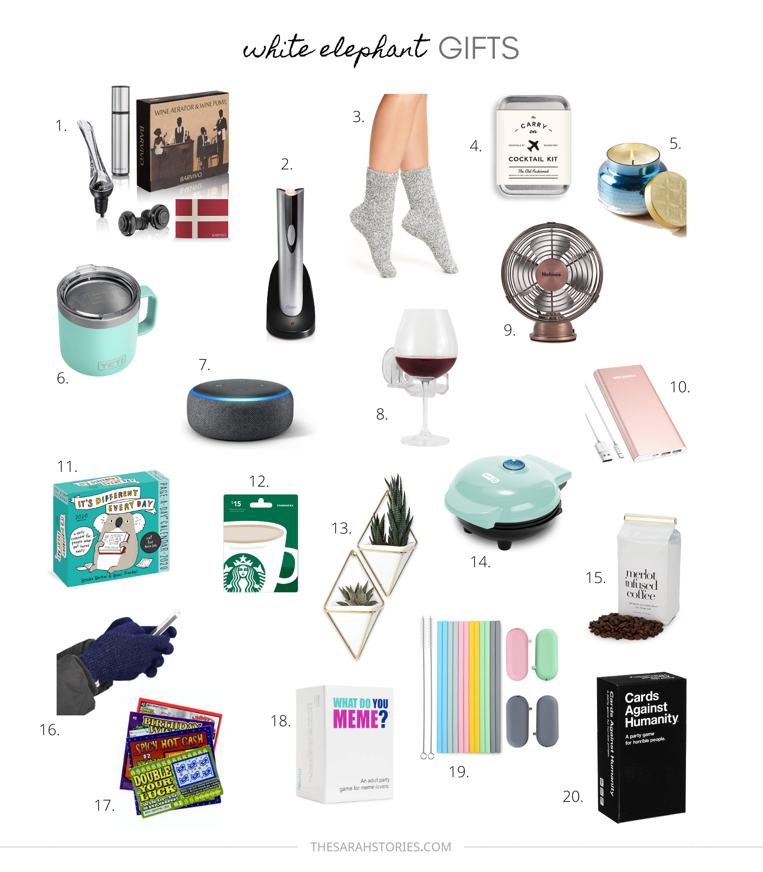 White elephant Holiday gift guide