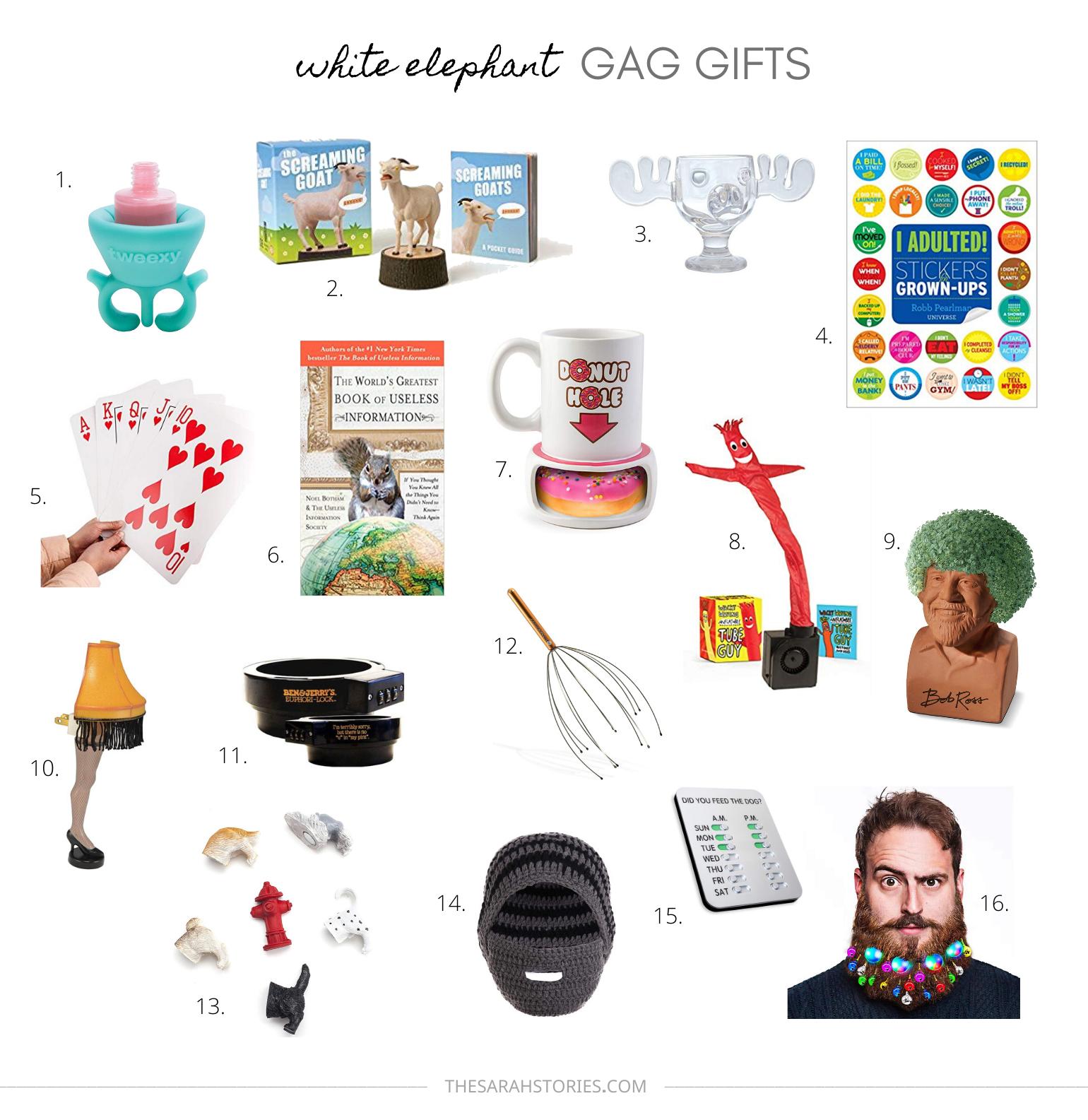 White elephant Holiday gag gift ideas