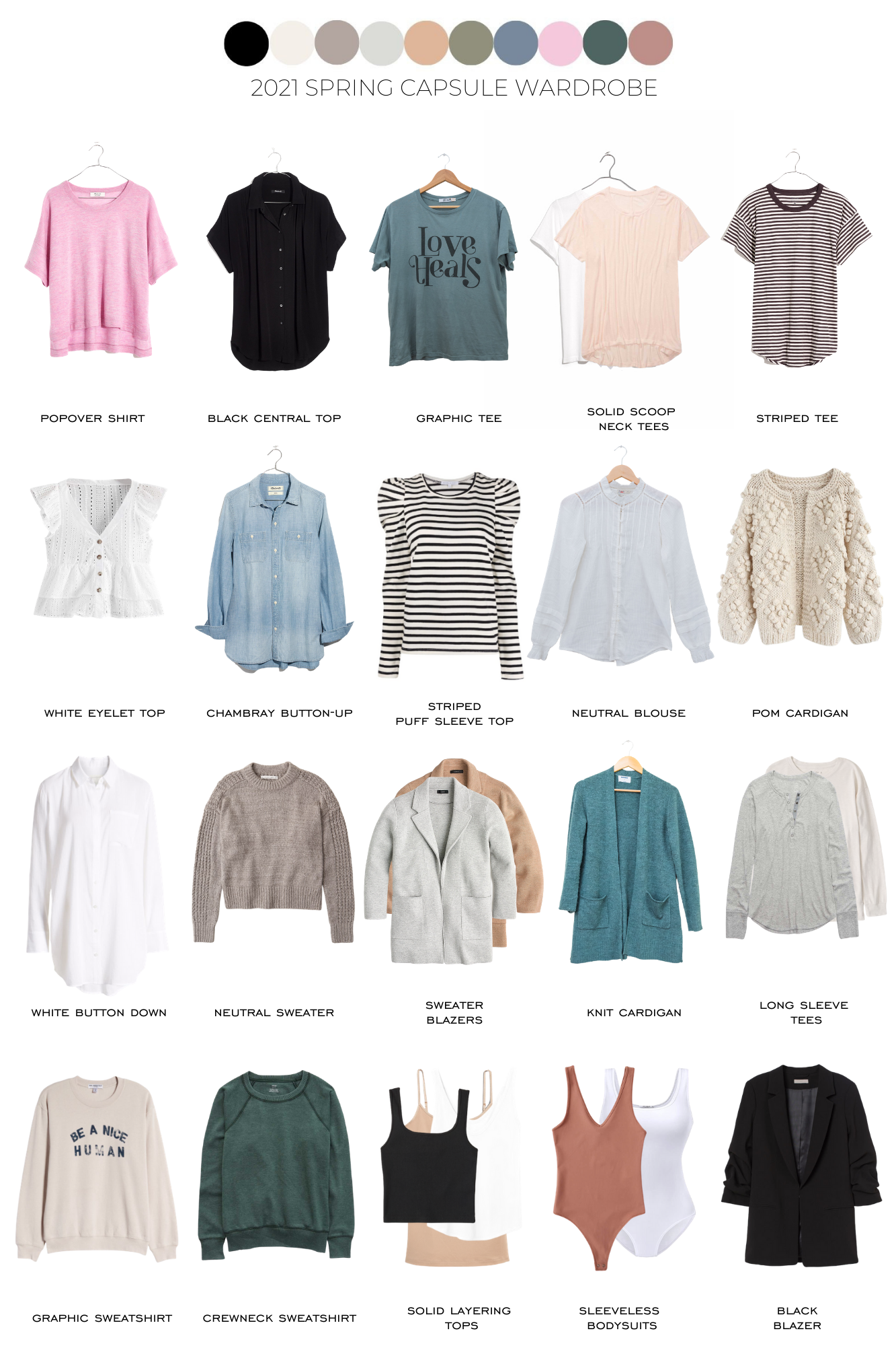 2021 Spring Capsule Wardrobe | + 32 outfit ideas
